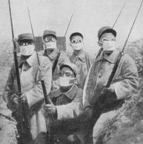 Французские солдаты в масках